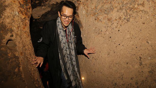 1 milyonu aşkın turist Kapadokya'da yer altına indi-2