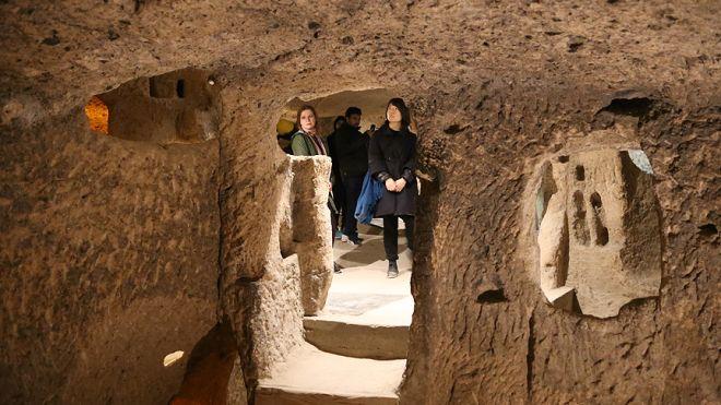 1 milyonu aşkın turist Kapadokya'da yer altına indi-1