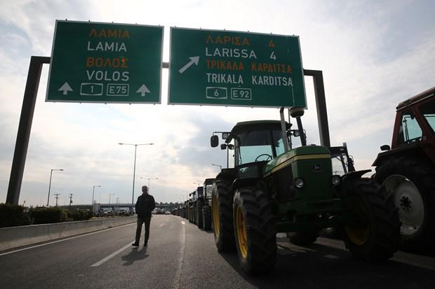 Yunanistan'da çiftçiler eylemde